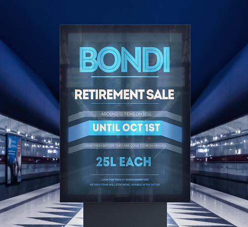 BONDI RETIREMENT SALE @Mainstore