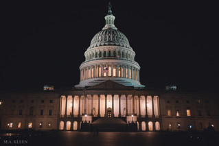 U.S. Capitol Building the Night of Ruth Bader Ginsburg's Death in Washington, DC | by makleen