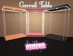 Gorrail Table