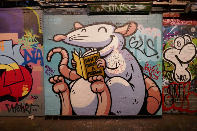 Roo graffiti, Leake Street - How to survive a pandemic