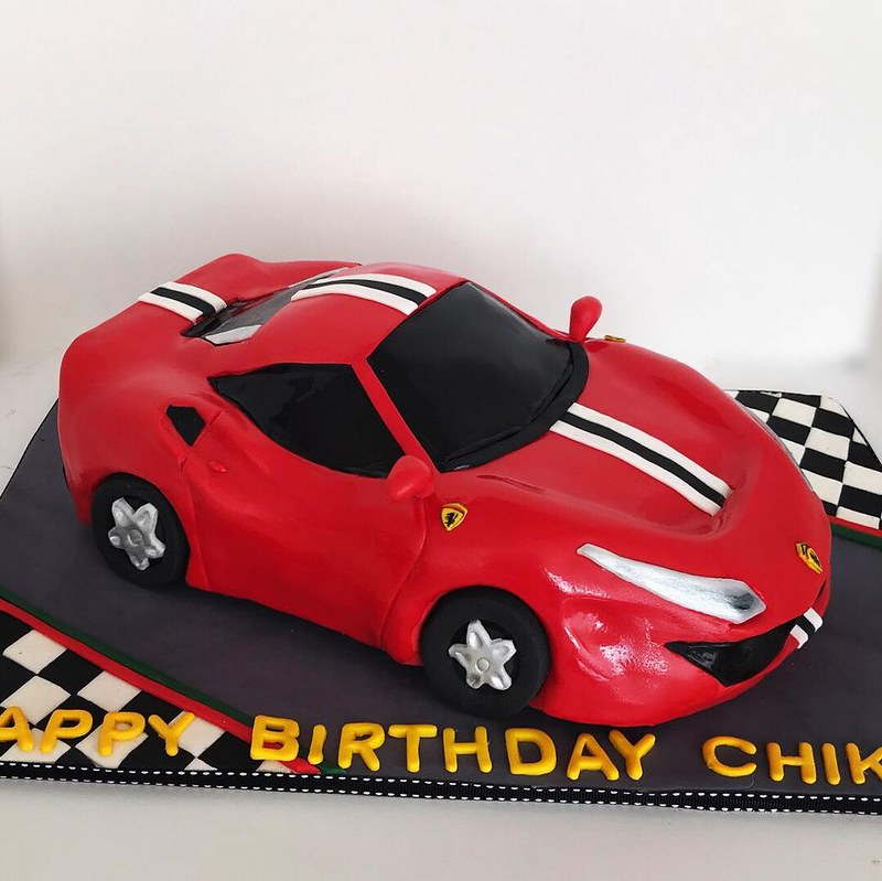 Ferrari Car Cake from Cake Art by Kristen