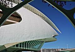 Vista parcial del Palau de les Arts - València