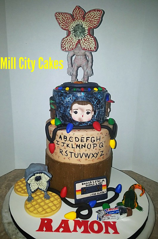 Stranger Things Themed Cake by Mayra Alejandra Cintron of Mill City Cakes