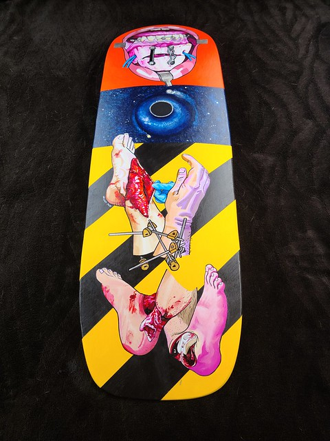 Skateboard Deck Commission b