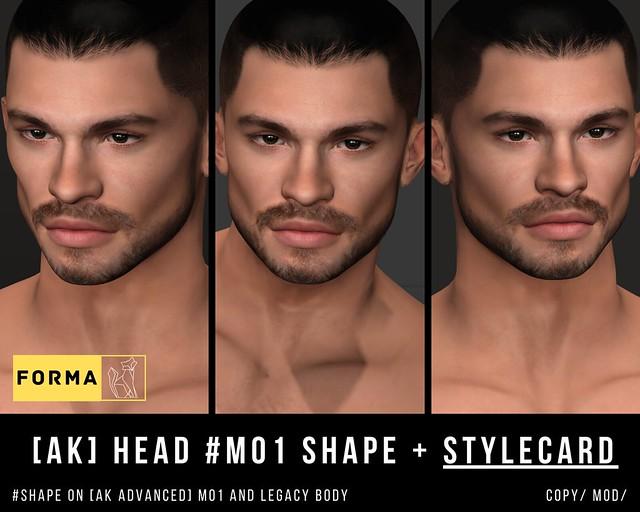 [F O R M A] Oscar #AK M01 SHAPE + STYLECARD
