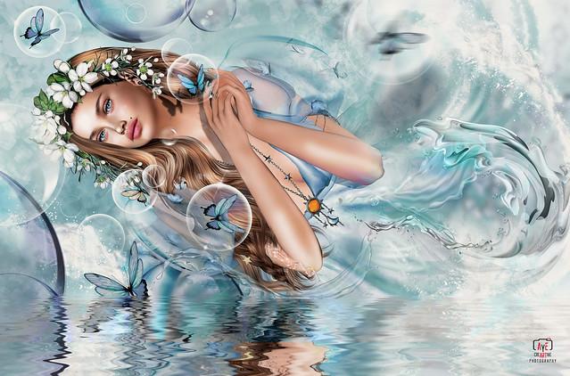 Butterflies bubbles, what a wonderful magic...