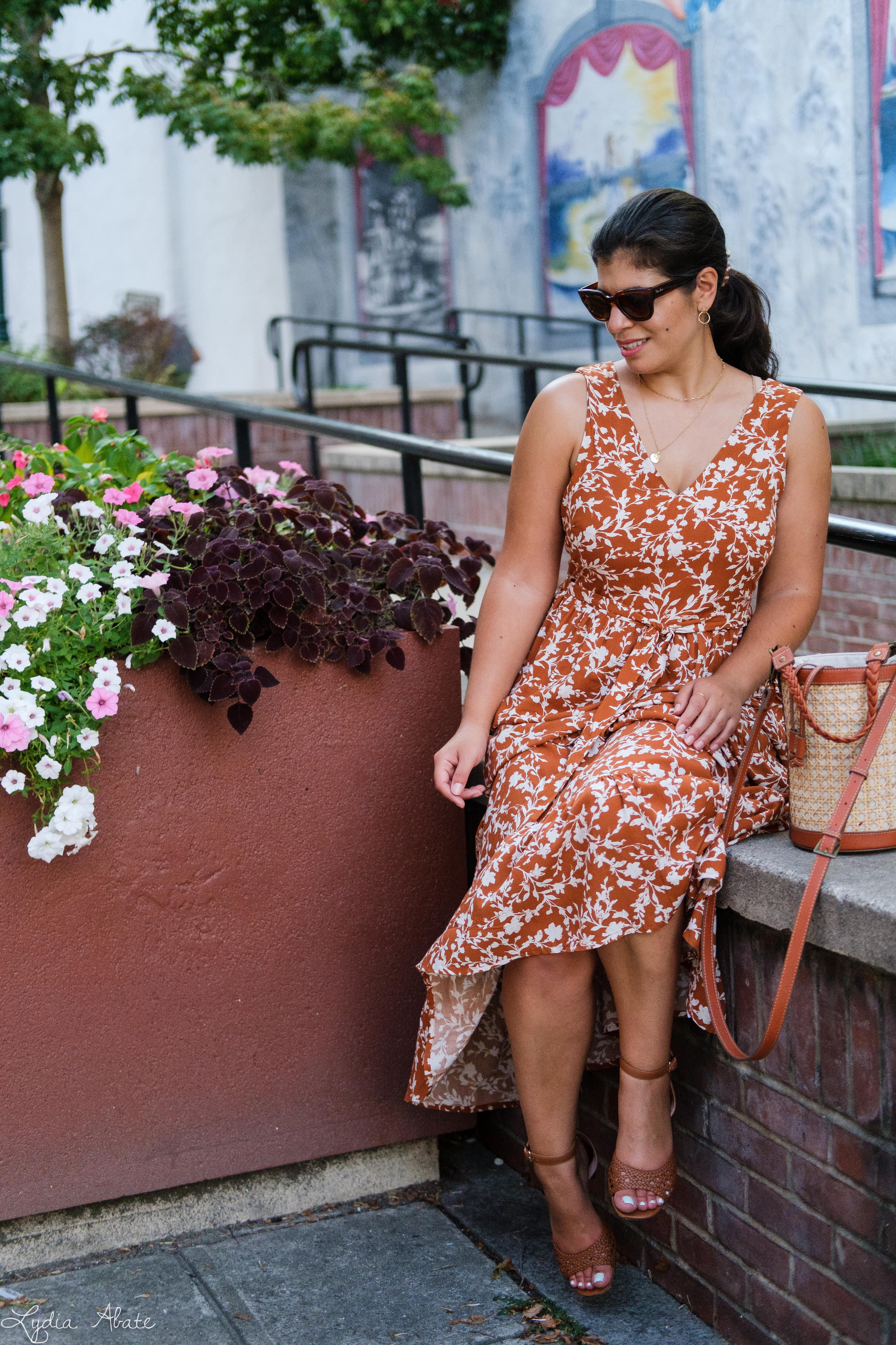 rust floral maxi dress, caned bucket bag, brown sandals-12.jpg