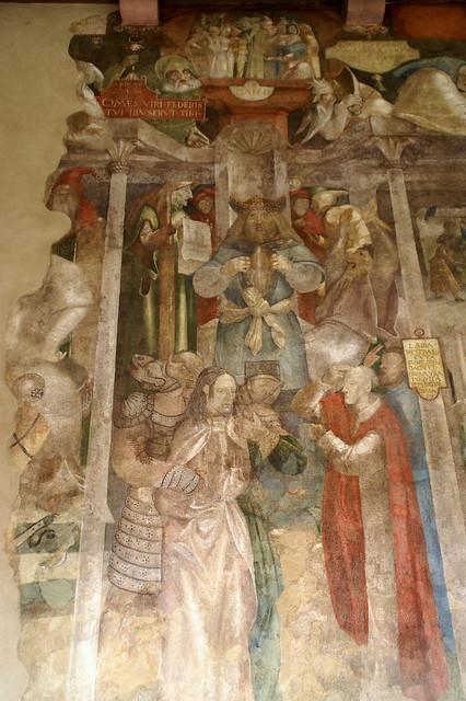 Frankfurt, Karmeliterkloster, Jesus wird von Hannas verhört - Jesus questioned by Annas