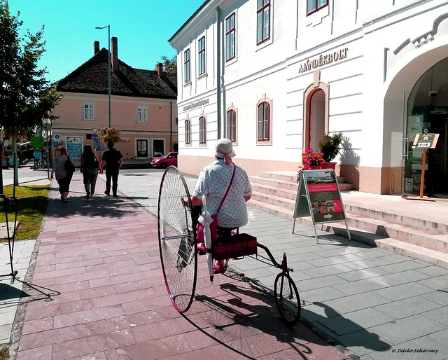 Tricyclist old lady
