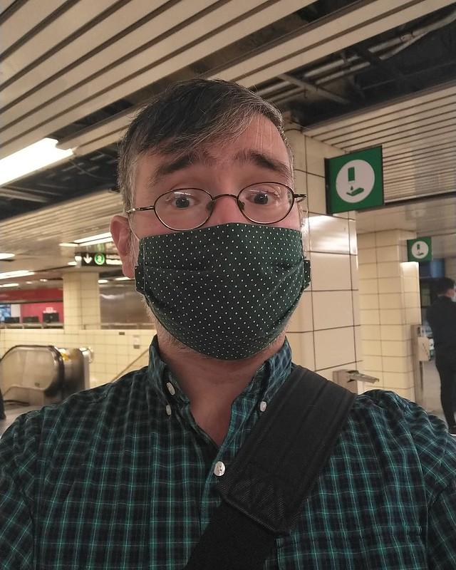 Green #toronto #blooryonge #ttc #subway #me #selfie #green #instagay