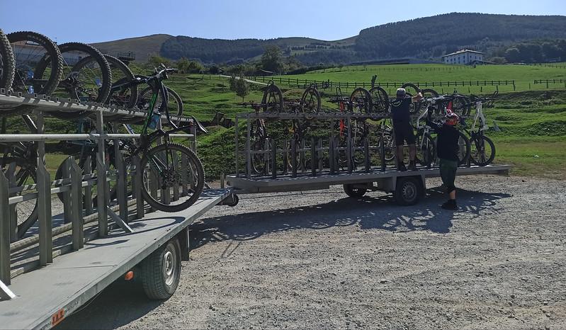 remolque del Bike Park IrrisarriLand