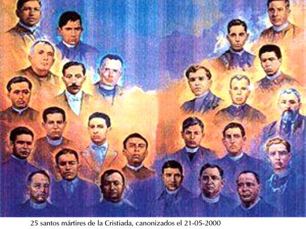 Mártires Crristiada canonizados