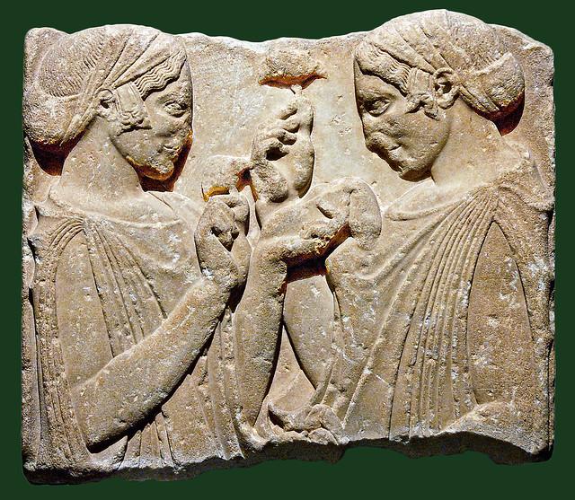 exaltation de la fleur 2b2s - stèle funéraire  [470-460 BC] - Louvre Ma-701 - wm