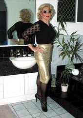 Gold Pencil Skirt-01