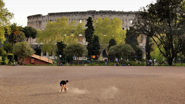 Football pitch, Parco del Colle Oppio, Rome