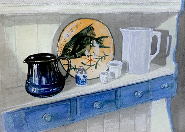 Still Life. Watercolour painting by jmsw. Just for Fun.