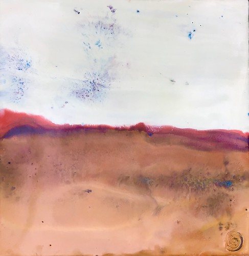 art beeswax encaustic horizon landscape painting wax fontana amiko