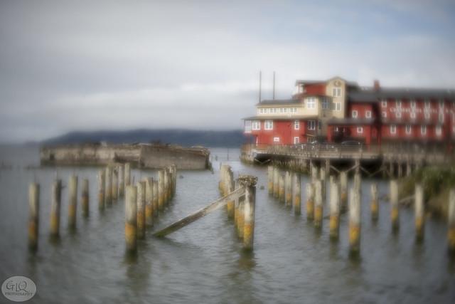 Pylons, Foundation, and Hotel, Astoria, Oregon
