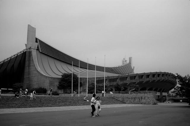 Yoyogi National Gymnasium, Tokyo; Kenzo Tange, architect, 1964