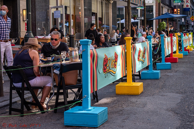 El Vez Seating Extended Into The Street - Social Distancing