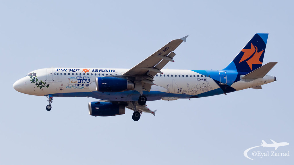 "TLV - Israir Airbus A320 4X-ABF ""Peace plane"""