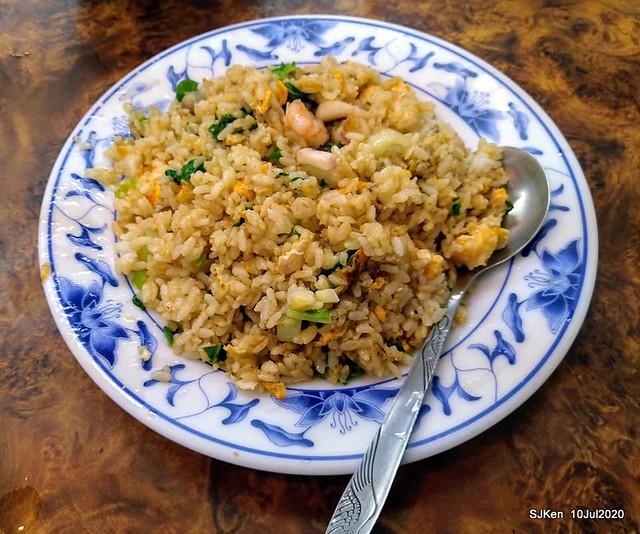 Seafood fried rcie, fried egg & cuttlefish soup at Taiwan style eatery, Taipei, Taiwan, SJKen, Jul 10, 2020.
