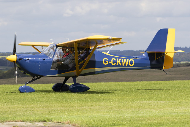 Private Eurofox 912 G-CKWO at Compton Abbas Airfield EGHA