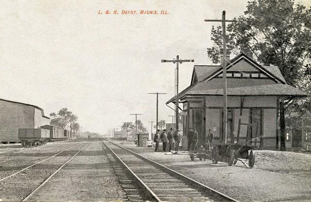 L&N Depot, Maunie, Illinois, 1909