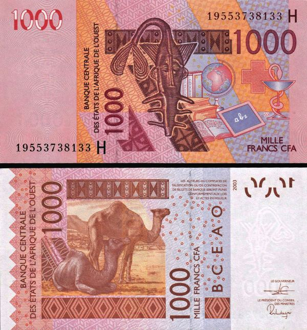 1000 Frankov Niger (WAS) 2003 (2019), P615Hs