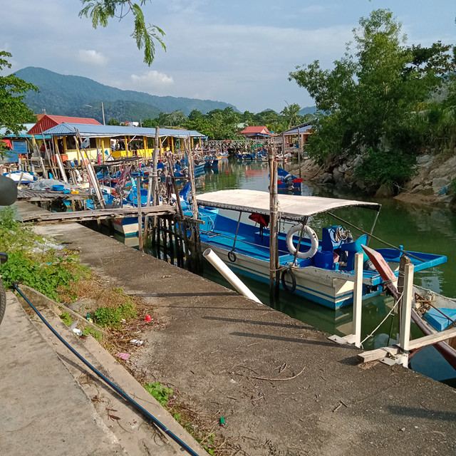 Teluk Bahang fishing harbour