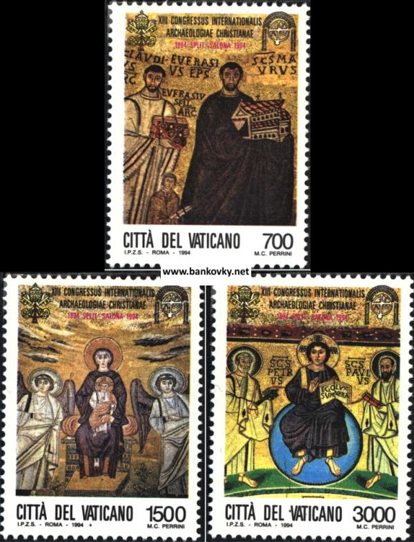 Známky Vatikán 1994 Kresťanská archeológia séria MNH