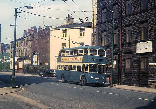 Bradford No 786 Karrier W Trolleybus seen in Bolton Road