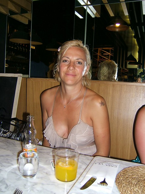 My gorgeous wife at the restaurant. Love comments