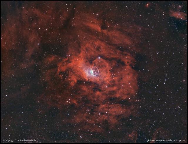 NGC7635 - The Bubble Nebula - HSO_RGB