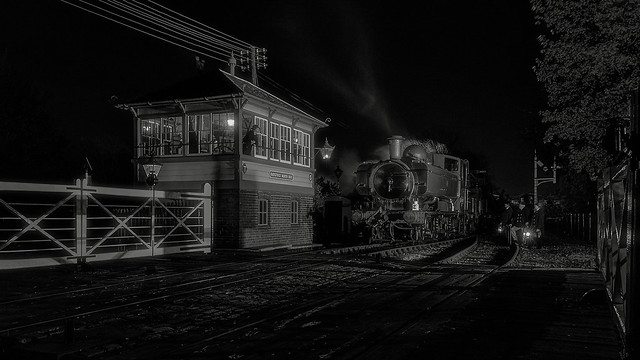 NIGHTIME ENGINEERS TRAIN