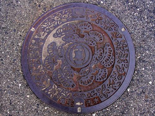 Ryuo Shiga, manhole cover (滋賀県竜王町のマンホール)