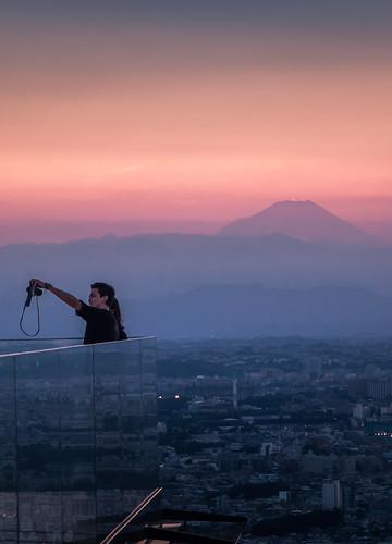 tokyo sunset rooftop twilight shibuyascramblesquare shibuya 屋上展望台 observatory 東京 富士山 myfuji 富士 渋谷 渋谷スカイ