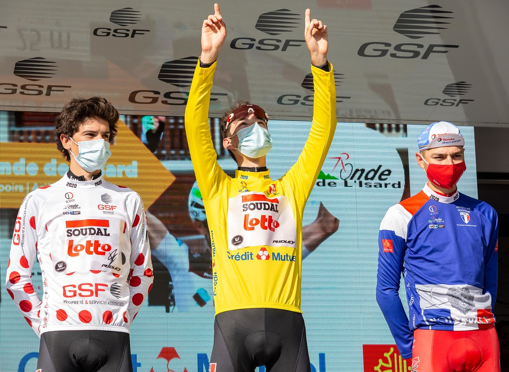 Xandres Vervloesem (Lotto Soudal), Henri Vandenabeele (Lotto Soudal), Alan Jousseaume (Vendée-U)