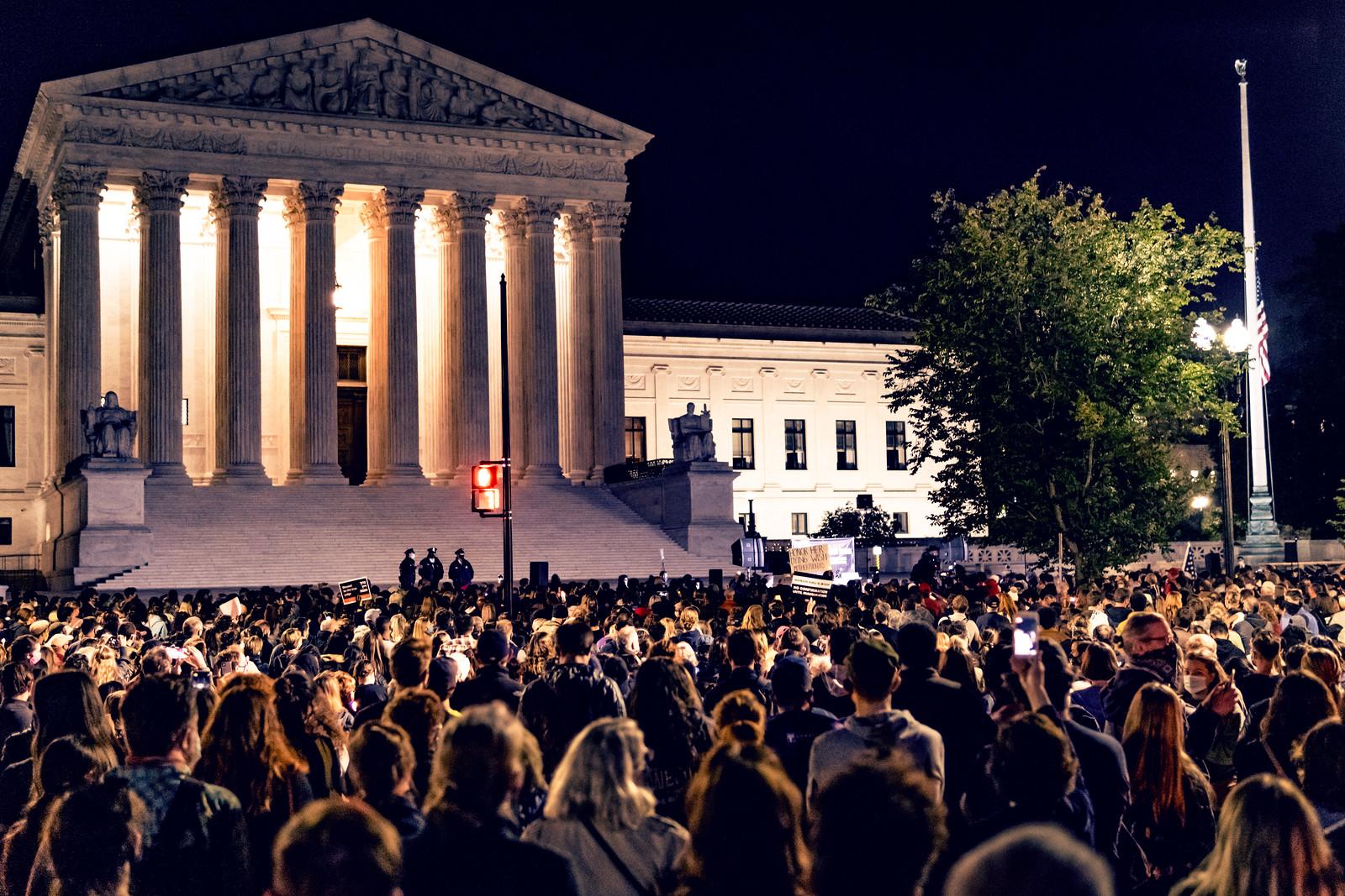 2020.09.19 Vigil for Ruth Bader Ginsburg, Washington, DC USA 263 96275