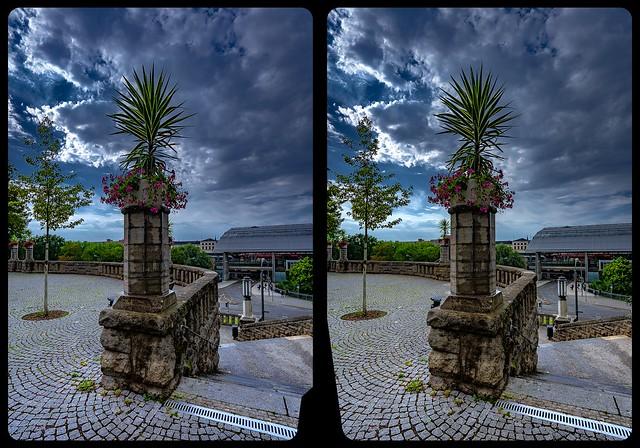 Stadtpark Erfurt 3-D / Kreuzblick / Stereoskopie