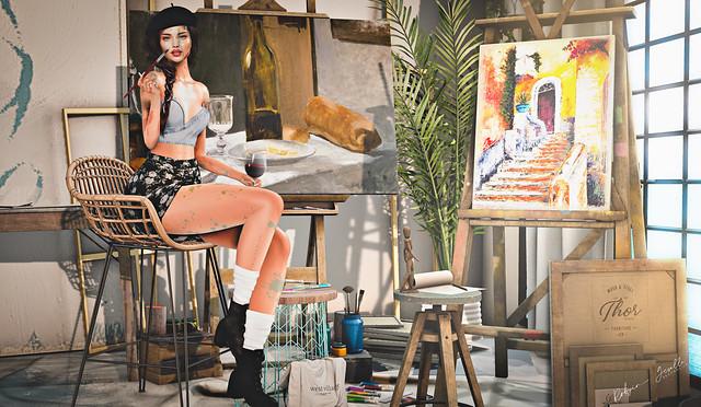 Back In the Art Studio