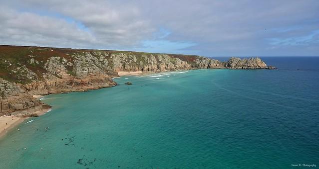Porthcurno Coastline. Cornwall. Sept 2020