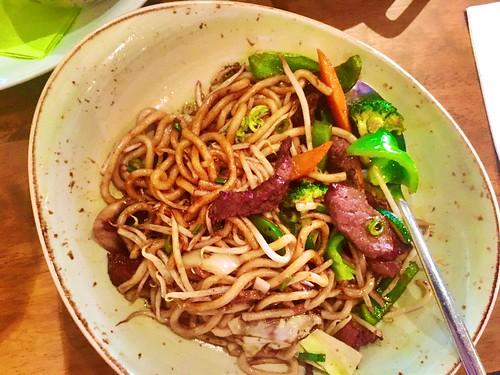 #Udon #Nudeln mit #Gemüse und #Rindfleisch