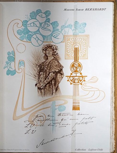 Sarah Bernhardt aime les biscuits LU (Musée d'histoire de Nantes)