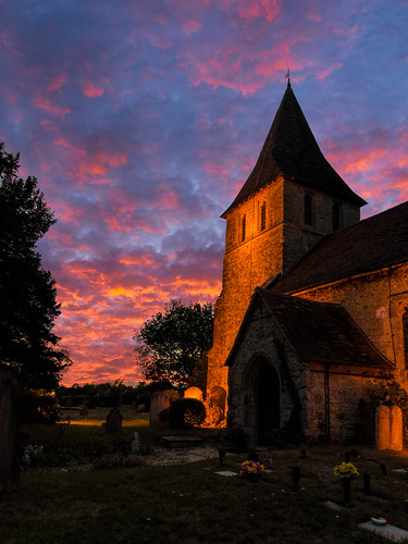 summer sunset church northdowns maidstone topazclarity sonyrx100m3 detling stmartinoftourschurch kent tree clouds medieval historic ancient england