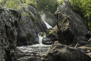 Gabbro Falls on the Black River in Gogebic County Michigan | by TAC.Photography
