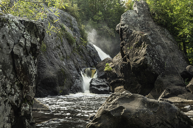 Gabbro Falls on the Black River in Gogebic County Michigan