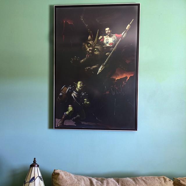 The art in my guest bedroom.