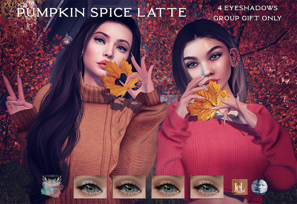 Voodoo – Pumpkin Spice Latte Eyeshadows – GROUP GIFT
