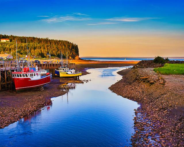 Alma Harbour Near Sunset, New Brunswick